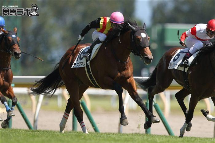内田博幸騎手とのコンビで新潟5Rを勝利したランスマン