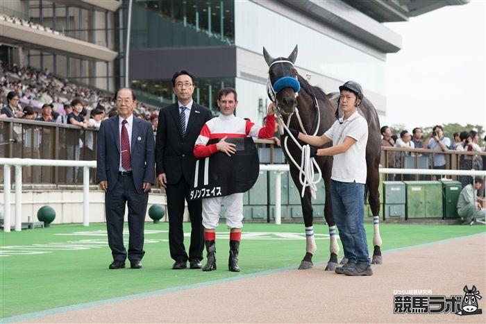 テレビ静岡賞を勝ったデムーロ騎手とダノンフェイス